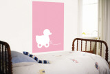 Pink Ducky Wall Mural by  Avalisa