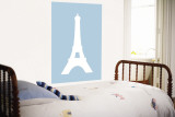 Blue Eiffel Tower Wall Mural by Avalisa 