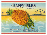 Happy Isles Brand, Pineapple Can Label, c.1930s Posters