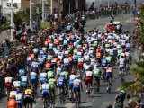 Third Stage of Tour de France, Leaving Old-Port Marseille, July 7, 2009 Photographic Print