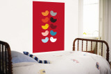 Red Kiss Wall Mural by  Avalisa