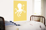 Yellow Octopus Wall Mural by  Avalisa