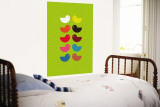 Green Kiss Wall Mural by Avalisa 