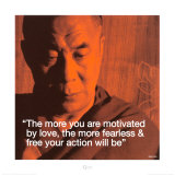 Dalai Lama: Fearless &amp; Free Kunstdrucke