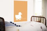 Orange Ducky Wall Mural by  Avalisa
