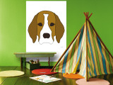 Beagle Wall Mural by  Avalisa