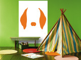 Orange Floppy Ears Wall Mural by  Avalisa