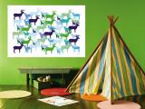 Deer Pattern Wall Mural by  Avalisa
