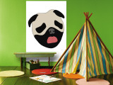 Pug Wall Mural by  Avalisa