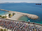Peloton Along Mediterranean Sea, Third Stage of Tour de France, Marseille, July 7, 2009 Photographic Print