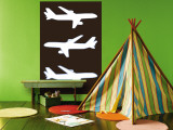 Brown Planes Wall Mural by Avalisa 