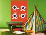 Orange Eyes reproduction murale géante par  Avalisa
