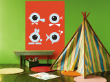 Orange Eyes Wall Mural by  Avalisa