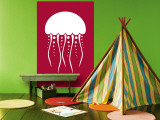 Red Jellyfish Wall Mural by  Avalisa