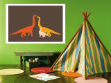 Orange Longneck Wall Mural by  Avalisa