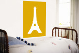 Orange Eiffel Tower Wall Mural by Avalisa