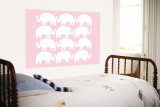 Pink Elephant Family reproduction murale géante par  Avalisa