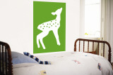 Green Fawn Wall Mural by Avalisa 