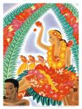 The Hawaiian Celebration Affiches par Frank MacIntosh