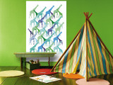 Giraffe Pattern Wall Mural by  Avalisa