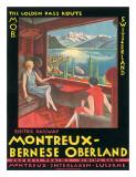 Montreux, Bernese Oberland Railway, Switzerland, c.1925 Giclee Print