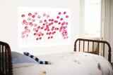 Pink Wild Flowers reproduction murale géante par  Avalisa