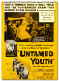 Untamed Youth Tin Sign