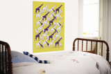 Yellow Giraffe Pattern Wall Mural by  Avalisa