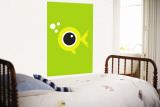 Green Fisheye Wall Mural by Avalisa