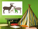 Green Deer Reproduction murale par  Avalisa