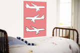 Pink Planes Wall Mural by  Avalisa