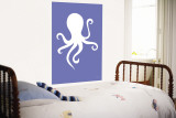 Blue Octopus Wall Mural by  Avalisa