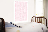 Pink Love Love Love Wall Mural by  Avalisa