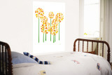 Orange Allium Wall Mural by Avalisa