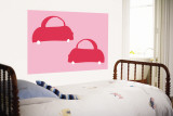 Pink Cabs Wall Mural by  Avalisa