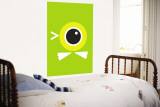 Green Duck Eye Wall Mural by Avalisa 