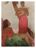 Hawaiian Night, Royal Hawaiian Hotel Menu Cover c.1950s Affiches par John Kelly