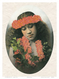 Portrait of Hawaiian Girl, c.1900 Posters