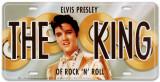 Elvis The King License Plate Blechschild