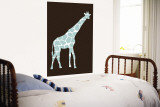 Brown Giraffe Wall Mural by Avalisa 