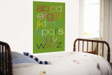 Green Rainbow Alphabet Muurposter van Avalisa