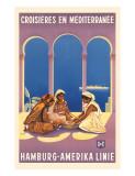 Hamburg Amerika Linie, Croisieres en Mediterranee Giclée-tryk af Ottomar Anton