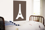 Brown Eiffel Tower Wall Mural by  Avalisa