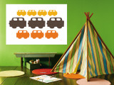 Orange Cars Wall Mural by  Avalisa