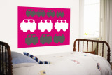 Pink Cars Wall Mural by  Avalisa