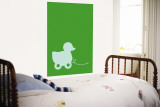 Green Ducky Wall Mural by Avalisa 