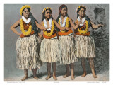 Hawaiian Hula Dancers, c.1880 Prints