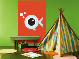 Orange Fisheye Wall Mural by  Avalisa