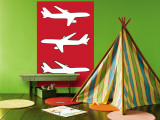 Red Planes Wall Mural by  Avalisa