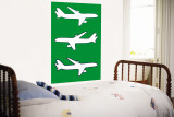 Green Planes Wall Mural by  Avalisa